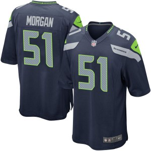 Nike Mike Morgan Seattle Seahawks Men's Game Navy Team Color Jersey