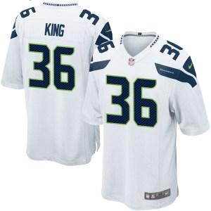Nike Akeem King Seattle Seahawks Youth Game White Jersey