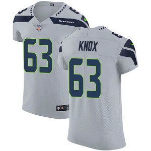 Nike Demetrius Knox Seattle Seahawks Men's Elite Gray Alternate Vapor Untouchable Jersey