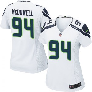Nike Malik McDowell Seattle Seahawks Women's Game White Jersey
