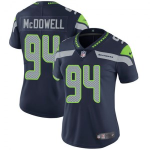 Nike Malik McDowell Seattle Seahawks Women's Limited Blue Steel Team Color Jersey
